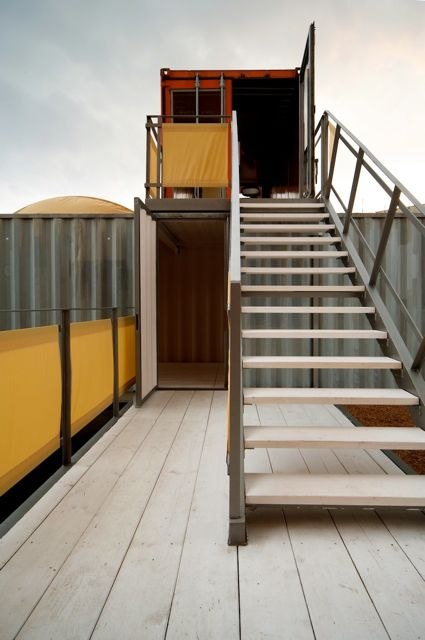 Containerbüro Treppe