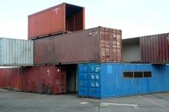 Architektur aus Schiffscontainers