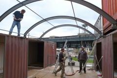 Aufbau Schiffscontainer als Büro / Architektur