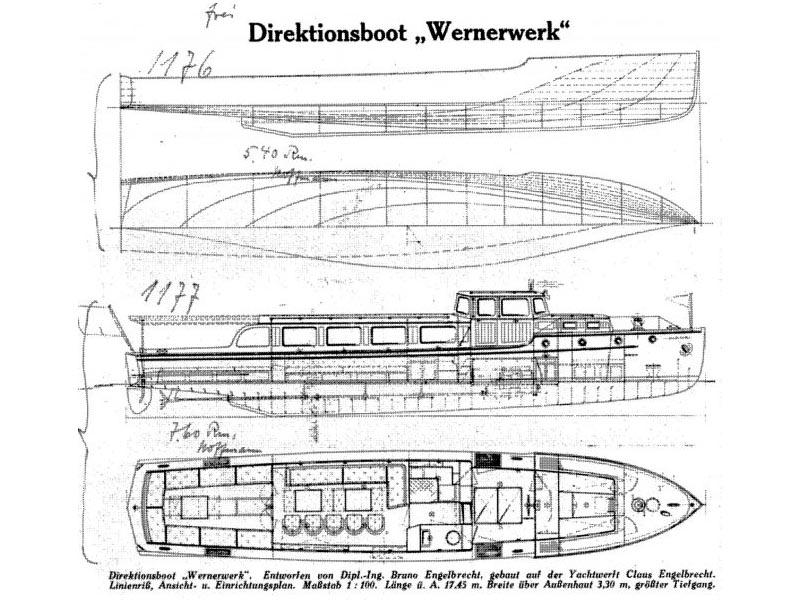 Engelbrecht-Werft DON JUAN Pläne