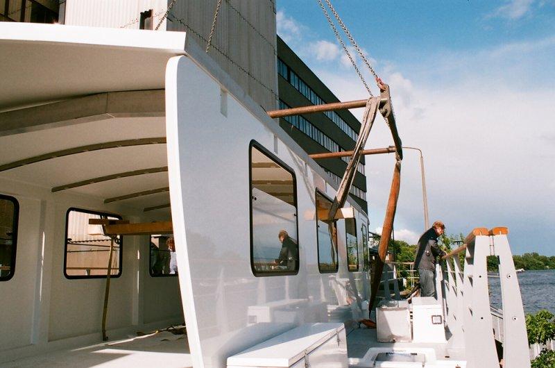 Solarschiff Solon Innenausbau
