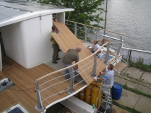 Solarschiff Solon Teakdeck